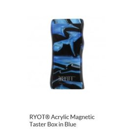 RYOT MPB-AC-BLU: BLUE ACRYLIC - MAGNETIC POKER BOX - 3IN DUGOUT