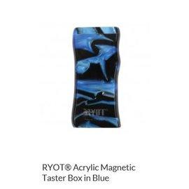 RYOT MPB-AC-BLU: BLUE ACRYLIC - MAGNETIC POKER BOX - 3IN DUGOUT