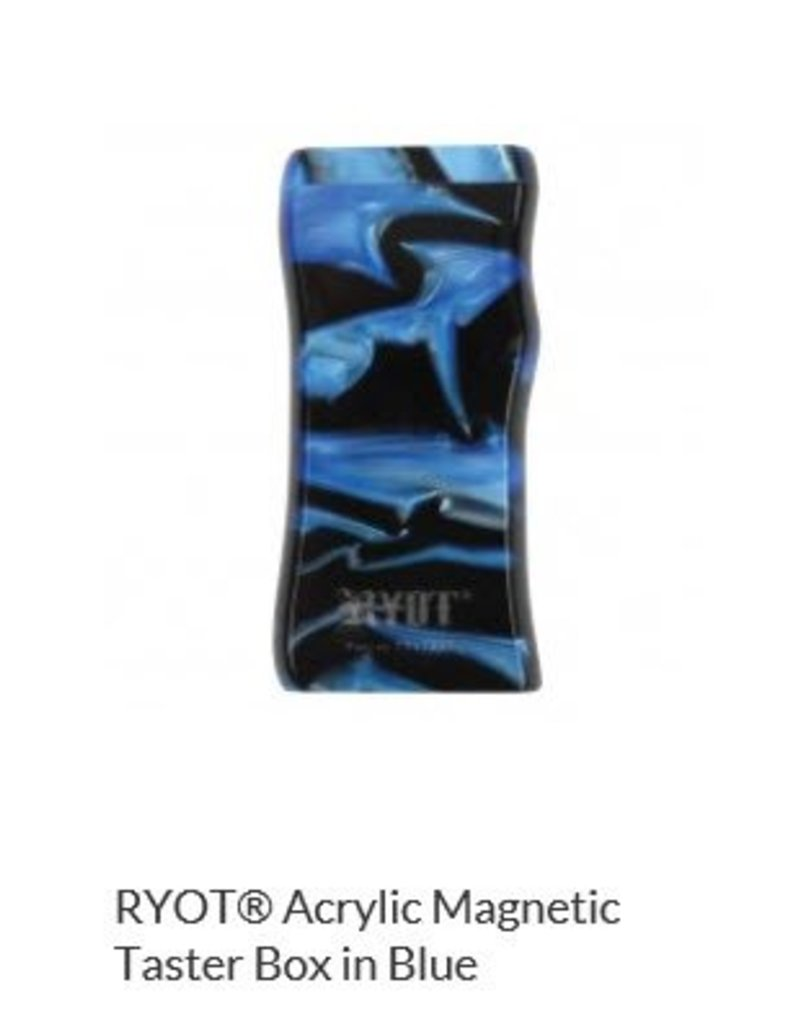 RYOT 3 Inch Blue Acrylic Dugout - Magnetic Poker Box From Ryot