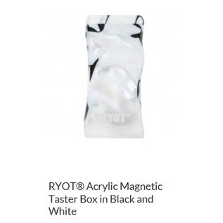 RYOT 3 Inch Black & White Acrylic Dugout - Magnetic Poker Box From Ryot