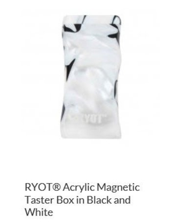 RYOT MPB-AC-BW: BLACK/WHITE ACRYLIC DUGOUT