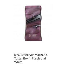 RYOT MPB-AC-PW: PURPLE/WHITE ACRYLIC - MAGNETIC POKER BOX - 3IN DUGOUT