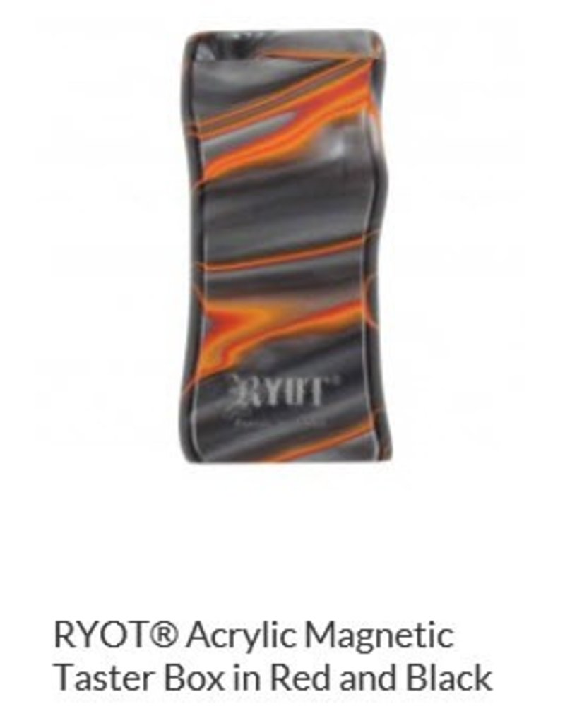 RYOT 3 Inch Red/black Acrylic Dugout - Magnetic Poker Box From Ryot