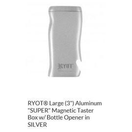 RYOT MPB-AL-SIL: SILVER ALUMINIUM- MAGNETIC POKER BOX - 3IN DUGOUT
