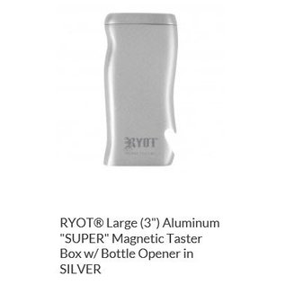 RYOT 3 Inch Silver Aluminium Dugout - Magnetic Poker Box From Ryot