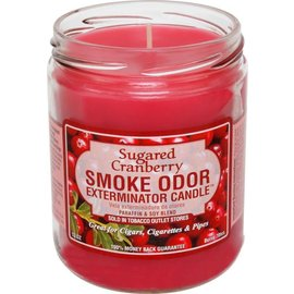 Smoke Odor Exterminator SUGARED CRANBERRY-CANDLE: SUGARED CRANBERRY CANDLE