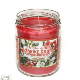 Smoke Odor Exterminator HOLLY-CANDLE: HOLLYBERRY HILLS CANDLE