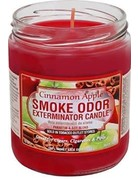 Smoke Odor Exterminator Cinnamon Apple - Smoke Odor Eliminator Candle