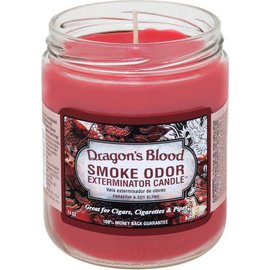 Smoke Odor Exterminator DRAGON-CANDLE: DRAGON'S BLOOD SMOKE ODOR CANDLE