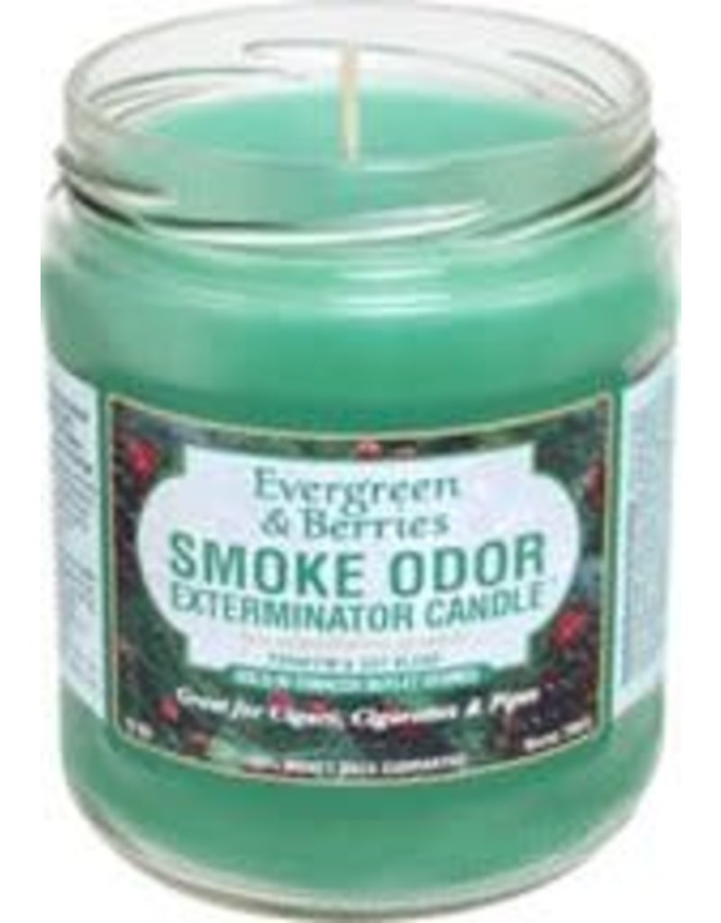 Smoke Odor Exterminator Evergreen & Berries - Smoke Odor Eliminator Candle