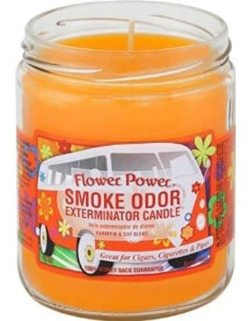 Smoke Odor Exterminator FLOWER-CANDLE: FLOWER POWER SMOKE ODOR CANDLE