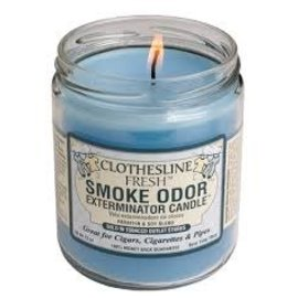 Smoke Odor Exterminator FRESH-CANDLE: CLOTHESLINE FRESH SMOKE ODOR CANDLE
