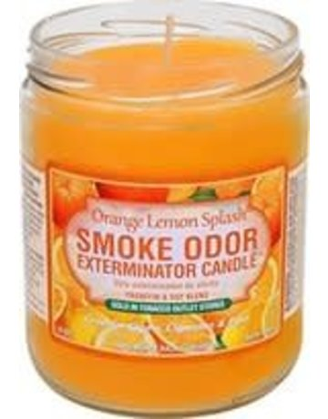 Smoke Odor Exterminator ORANGE-CANDLE: ORANGE LEMON SPLASH CANDLE