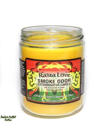Smoke Odor Exterminator RASTA-CANDLE: RASTA LOVE SMOKE ODOR CANDLE