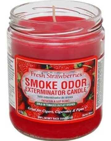 Smoke Odor Exterminator STRAW-CANDLE: FRESH STRAWBERRIES CANDLE