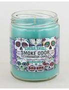 Smoke Odor Exterminator Sugar Skull Candle Top - Smoke Odor Eliminator Candle
