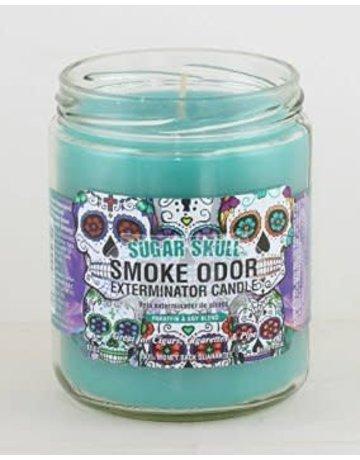 Smoke Odor Exterminator SUGAR-CANDLE: SUGAR SKULL CANDLE TOP