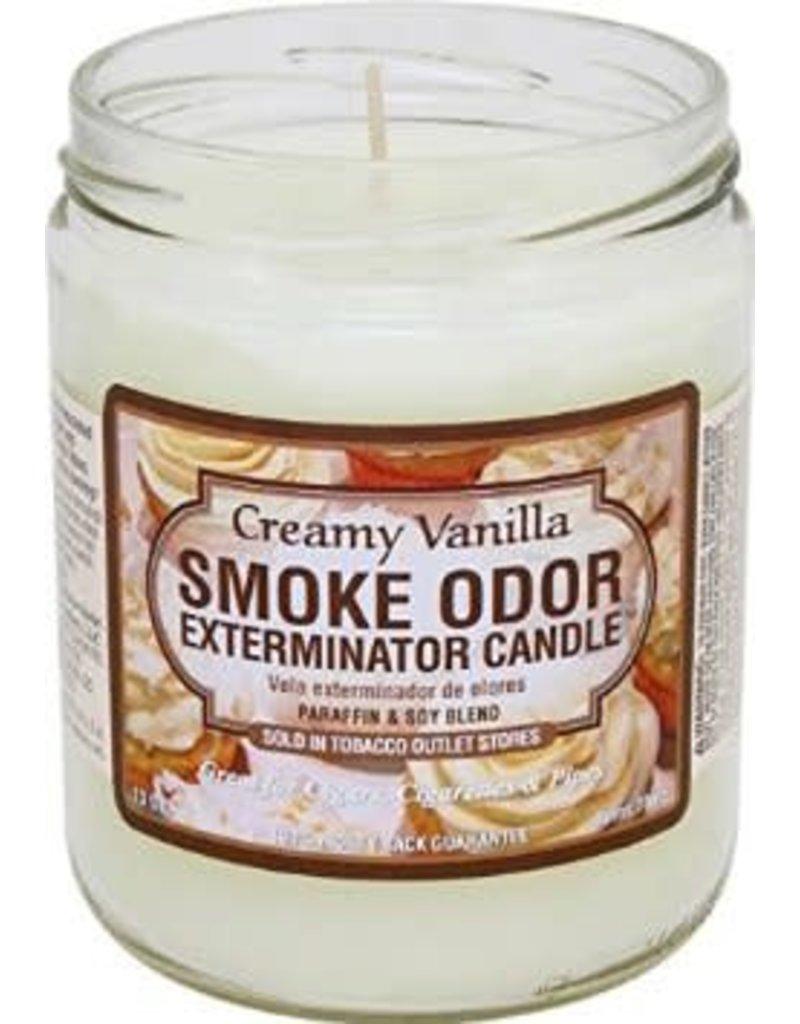 Smoke Odor Exterminator Creamy Vanilla Smoke Odor Candle - Smoke Odor Eliminator Candle