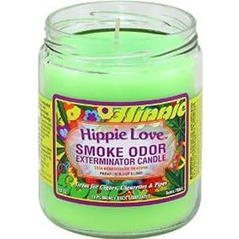 Smoke Odor Exterminator HIP-CANDLE: HIPPIE LOVE SMOKE ODOR CANDLE
