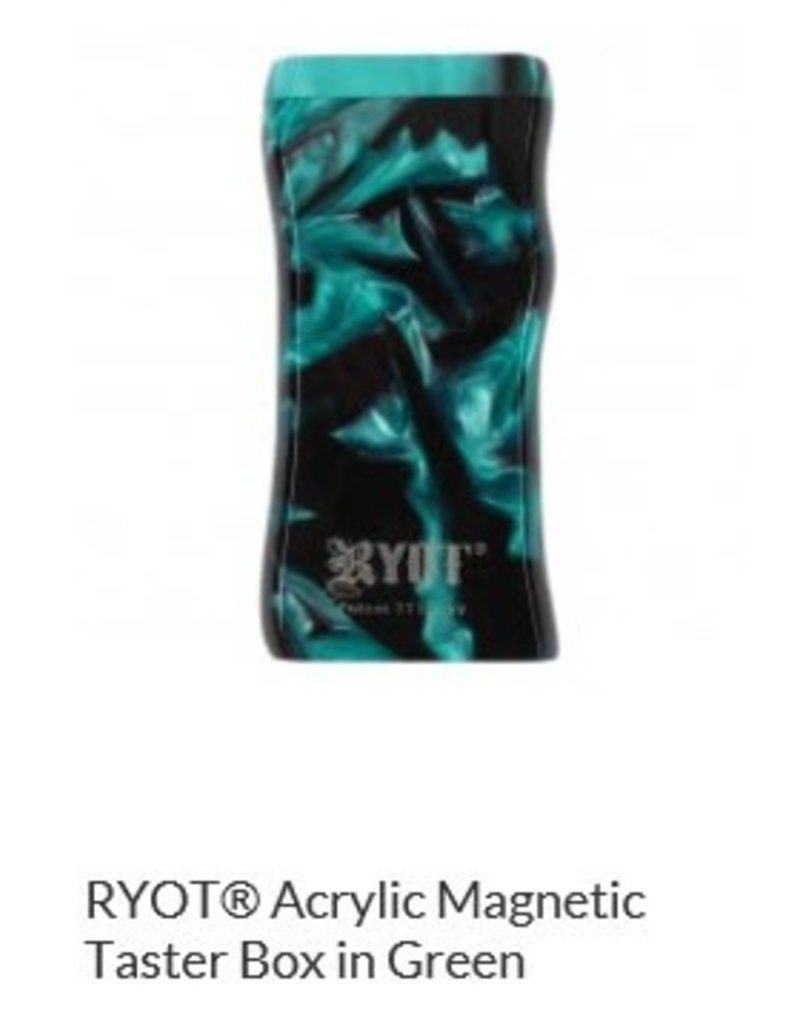 RYOT 3 Inch Green Acrylic Dugout - Magnetic Poker Box From Ryot