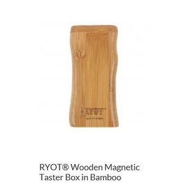 RYOT MPB-BAM: BAMBOO WOOD - MAGNETIC POKER BOX - 3IN DUGOUT