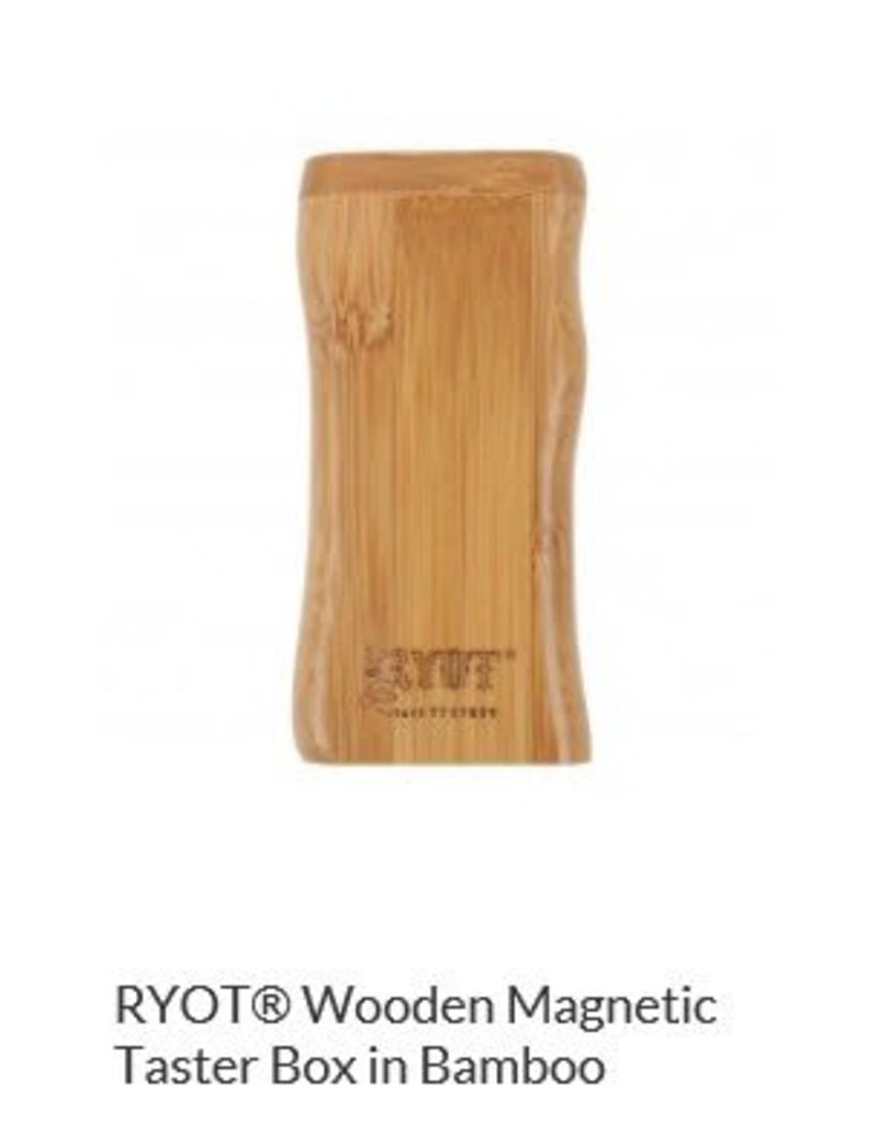 RYOT 3 Inch Bamboo Wood Dugout - Magnetic Poker Box From Ryot