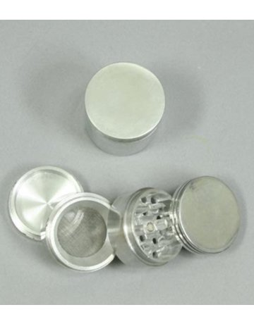GR110: 4PC 1.5IN (40MM) BASIC METAL GRINDER/SIFTER W/ MAGNET - GENERIC BRAND