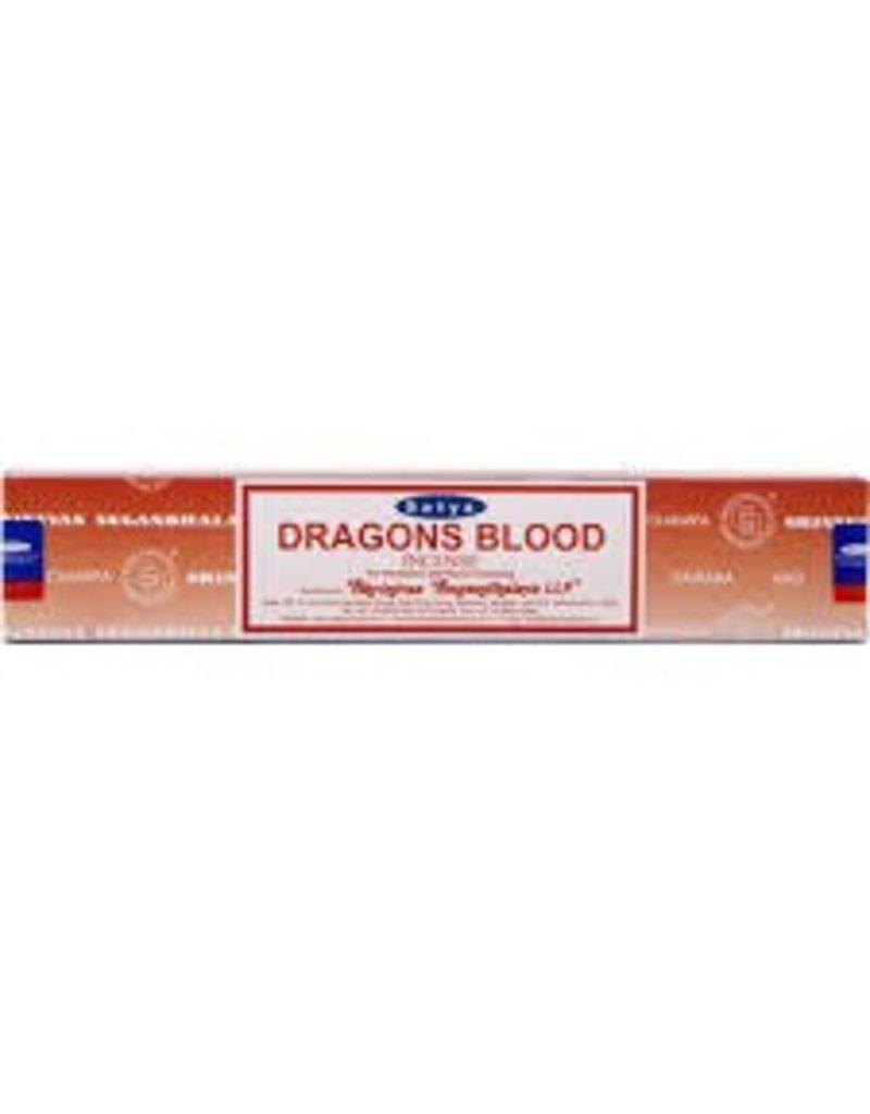 """Satya """"Dragons Blood"""" Incense - 15gm Box"""