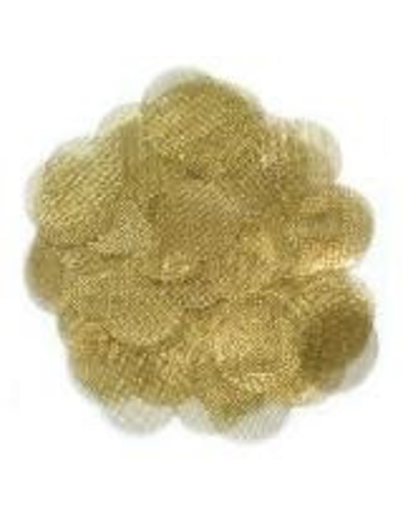 10-pack of Round Metal Screens - Brass .750