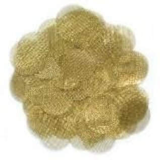 10-pack of Round Metal Screens - Brass .812