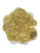 10-pack of Round Metal Screens - Brass 1.0