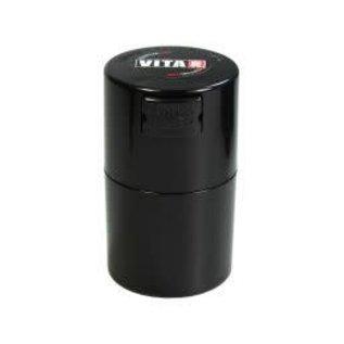 Tightvac Vitavac Black 0.7oz - Air Tight Waterproof Smell Proof Storage Jar With Colored Lid From Tightvac