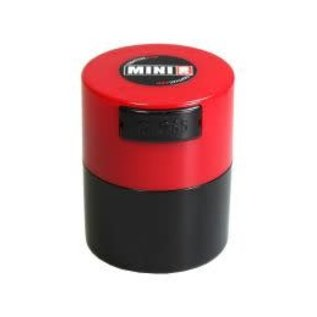 Tightvac Black Minivac 1.4oz - Air Tight Waterproof Smell Proof Storage Jar With Colored Lid From Tightvac