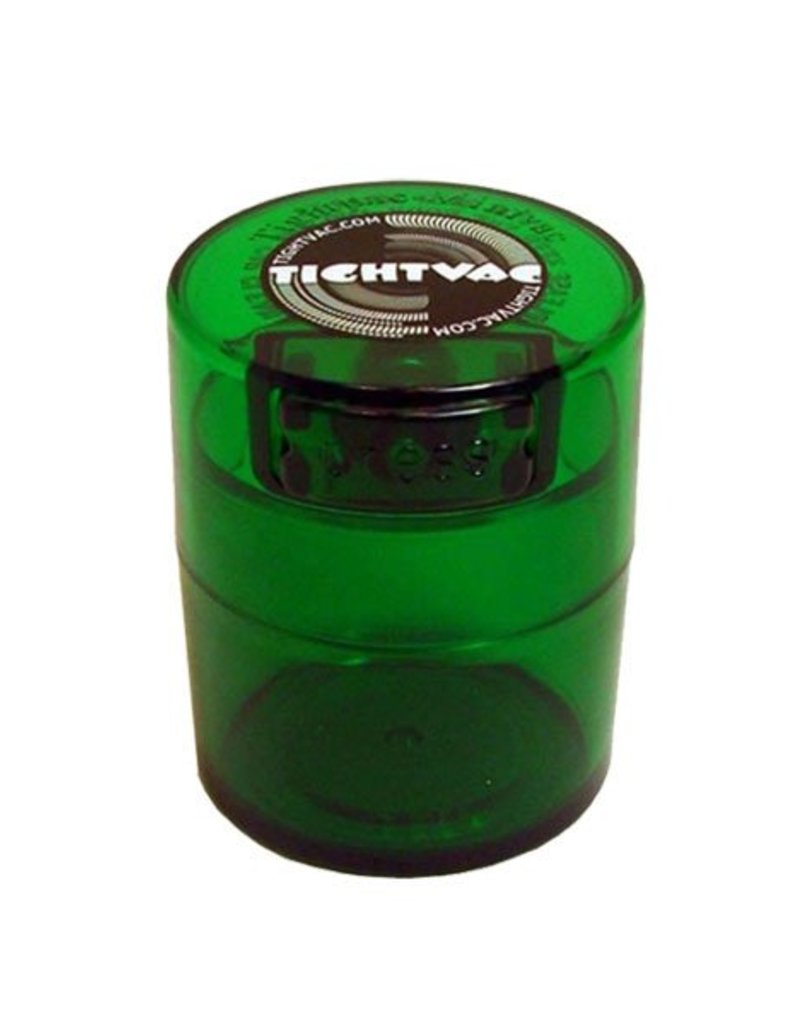 Tightvac Colored Tint Minivac 1.4oz - Air Tight Waterproof Smell Proof Storage Jar With Colored Lid From Tightvac
