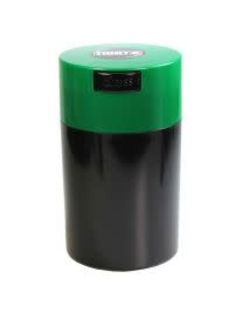 Tightvac Black 6oz Tightvac - Air Tight Waterproof Smell Proof Storage Jar With Colored Lid