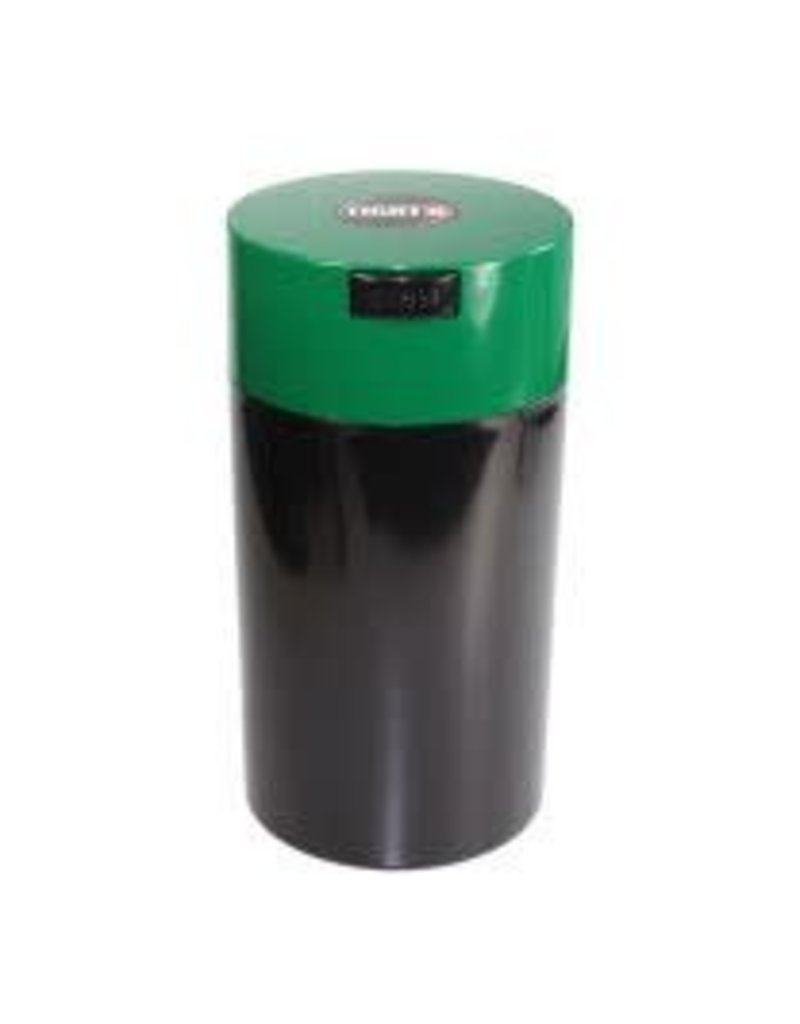 Tightvac Black 12oz Tightvac - Air Tight Waterproof Smell Proof Storage Jar With Colored Lid