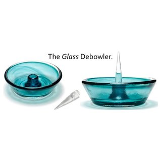 Debowler The Glass Debowler Ashtray With Removable/replacable Spike