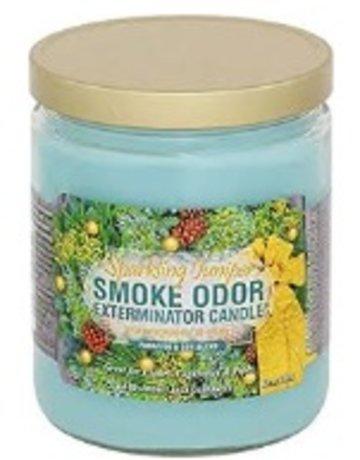 Smoke Odor Exterminator JUNIPER-CANDLE: SPARKLING JUNIPER CANDLE