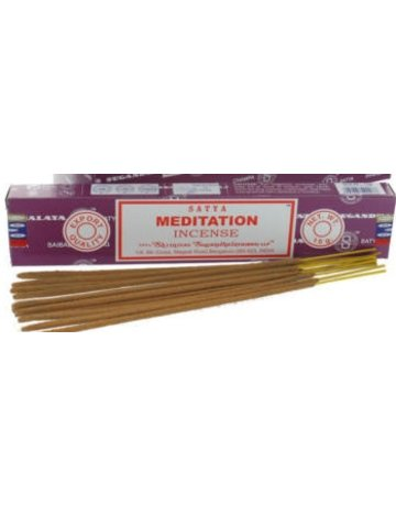 NAG15-MED: MEDITATION NAG CHAMPA INCENSE - 15GM BOX