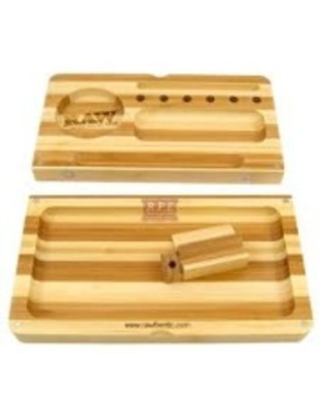 Raw Papers RAWTRAY: BACKFLIP WOODEN RAW ROLLING TRAY/BOX