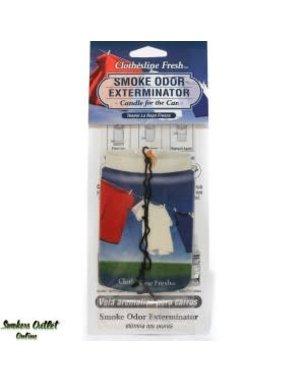 Smoke Odor Exterminator FRESH-CARFRESH: CLOTHESLINE - CAR FRESHENER