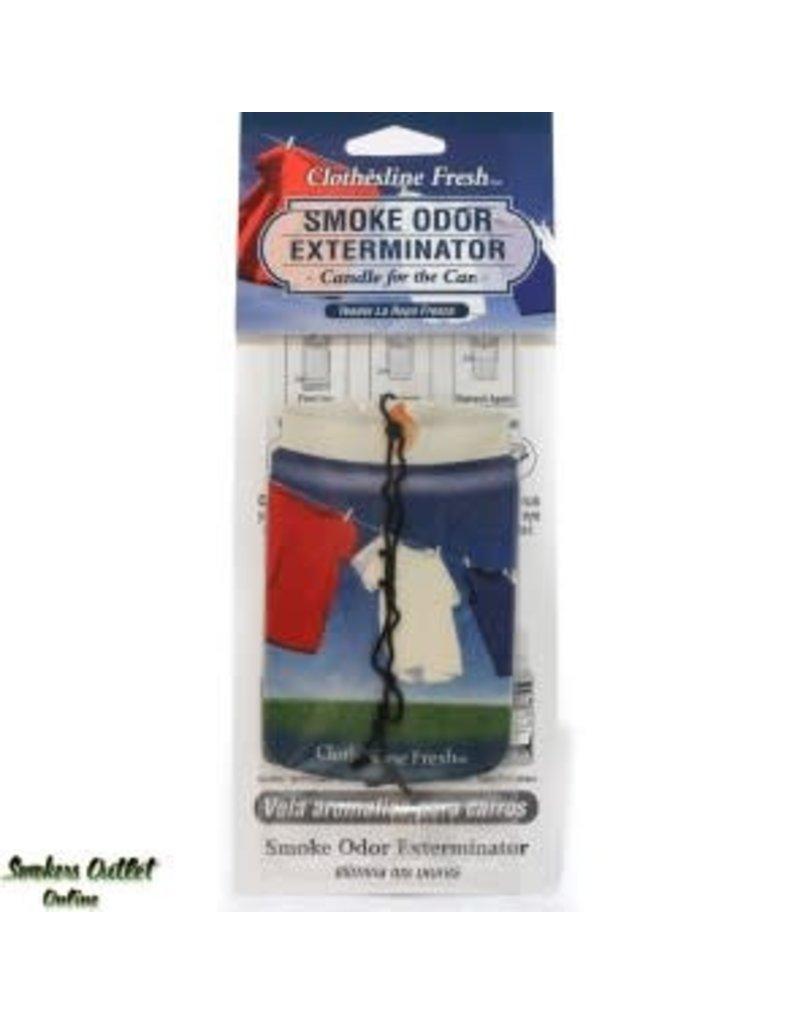 Smoke Odor Exterminator Clothesline Fresh - Car Freshener - Smoke Odor Exterminator