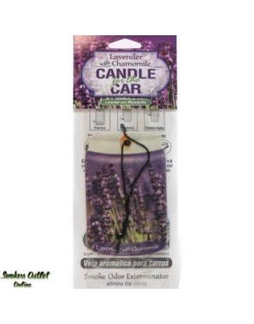 Smoke Odor Exterminator LAVENDER-CARFRESH: LAVENDER CHAMOMILE CAR FRESHEN