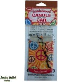 Smoke Odor Exterminator SANDLEWOOD-CARFRESH: SANDLEWOOD - CAR FRESHENER