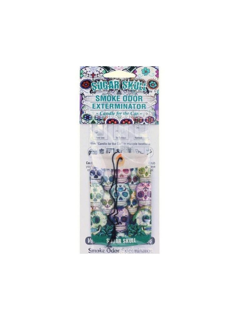 Smoke Odor Exterminator Sugar Skull - Car Freshener - Smoke Odor Exterminator