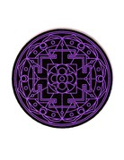 Moodmats Mood Mat 8 Inch Sacred Geometry Purple Rubber Pad