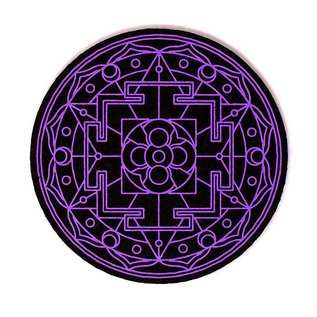 Moodmats Mood Mat 8 Inch Sacred Geometry Purple Rubber Pad