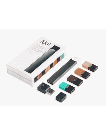 JUUL INFO PAGE: JUUL FULL KIT - INCLUDES DEVICE PLUS 4 FLAVOR PODS