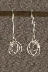 Scribble Sterling Silver Earrings
