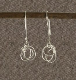 Bangladesh, Scribble Sterling Silver Earrings